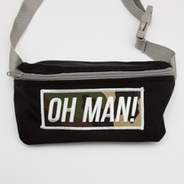 The Camo Fanny Pack in Black