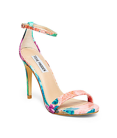 Free Shipping Steve Madden Stecy Floral Snakeskin Ankle Strap ...