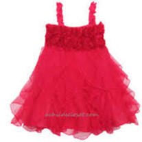 One Posh Kid Fushia Cascading Ruffle Dress