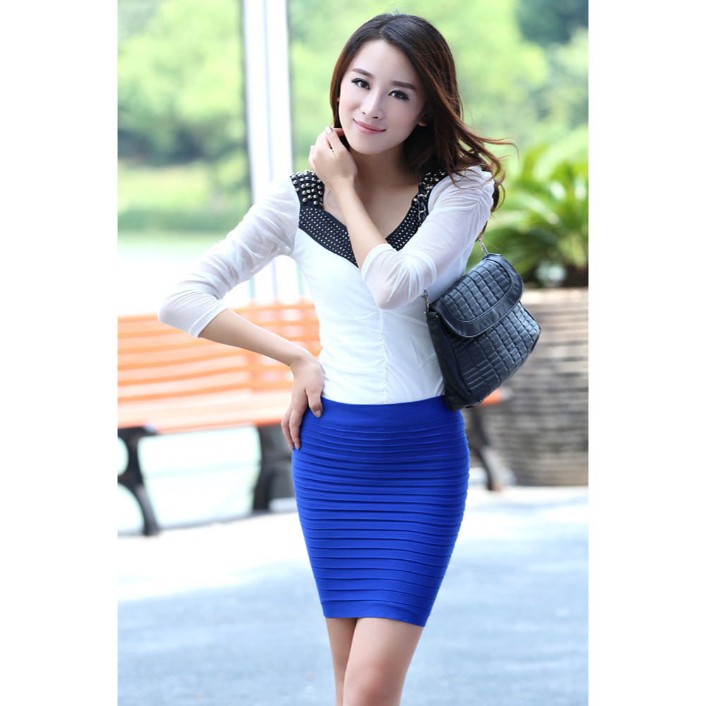 tight-fit ribbed skirt - orange · everyday sweetheart · online store