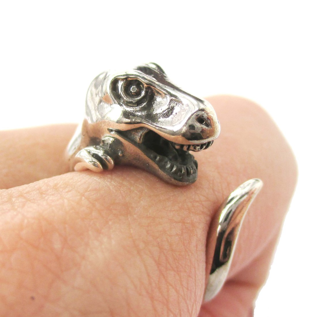 black rings tyrannosaurus t eye tirano my kinitial fine animal retro jewelry item engagement ring from dino aliexpress austrian vintage rex dinosaur in women