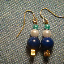 Blue, White & Aqua Earrings