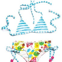 Lilo Tati Ho Ho Drawstring Brief & Halter Bikini Swimsuit