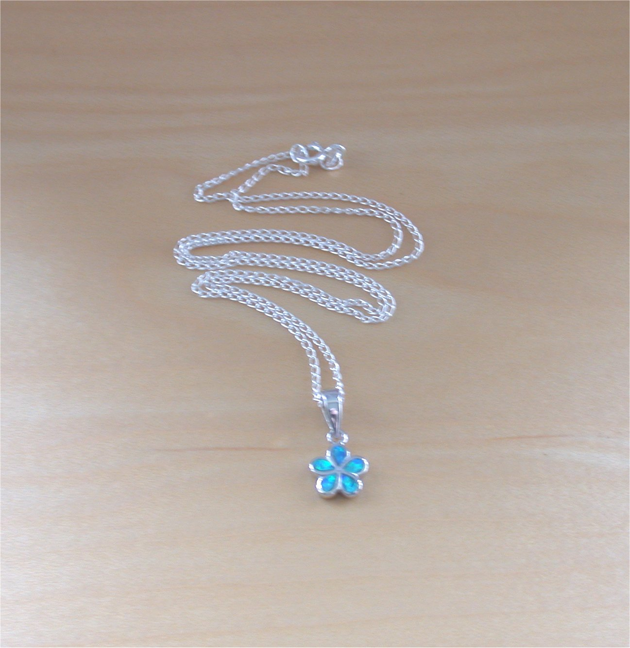 product crystal blue matte silver air original white chain swarovski opal necklace pearl ball pendant