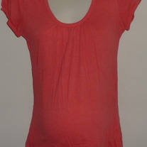 Coral Short Sleeve Shirt-Liz Lange Maternity Size Small  GS513