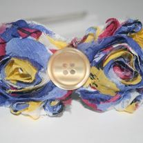 """Primarily Yours"" shabby sass headband"