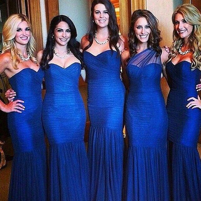 Royal Blue Bridesmaid Dresses Long Dress Mermaid Formal