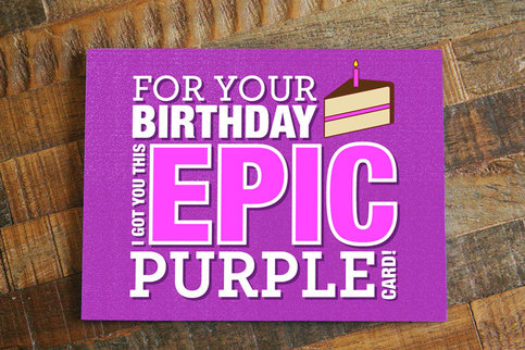Outstanding World Of Warcraft Card Epic Purple Geeky Birthday Card Funny Birthday Cards Online Aboleapandamsfinfo