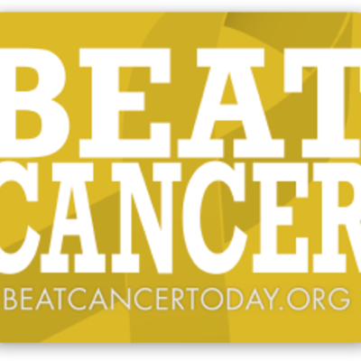 Beat cancer sticker