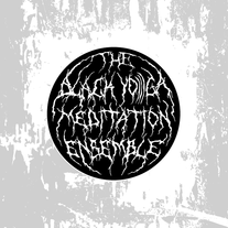 Sticker: the BLACK YO)))GA Meditation Ensemble medium photo