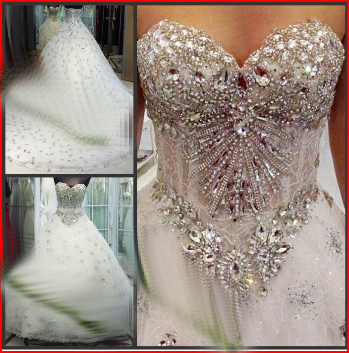 YZ New Arrival Gorgeous Luxurious Swarovski Crystals Bridal Wedding ...