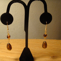 Fancy Brown Glass Glass Earrings