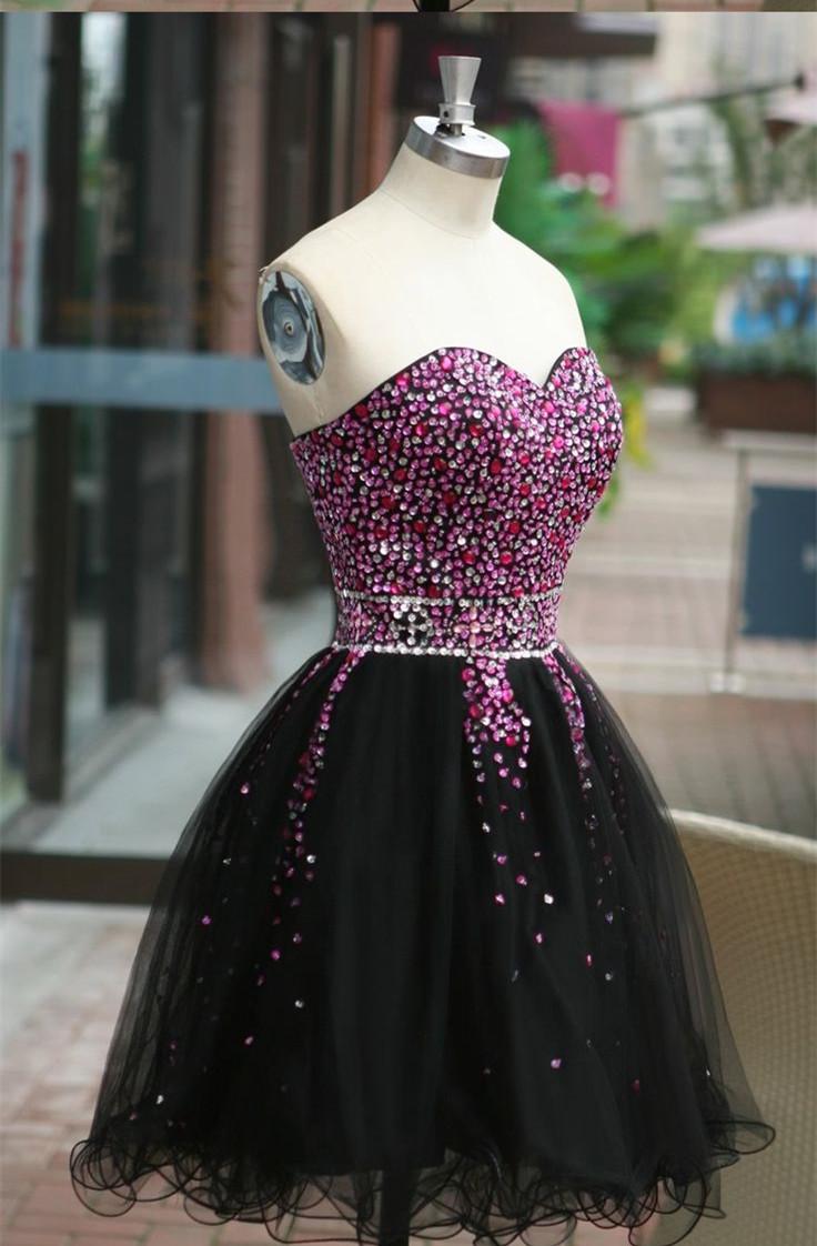 Classical Purple prom dress,Sweetheart prom dress,Open Back prom ...
