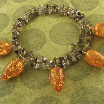 The 5 Princes in Amber Gemstone Necklace