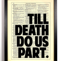 Image of Till Death Do Us Part Typography, Vintage Dictionary Print, 8 x 10