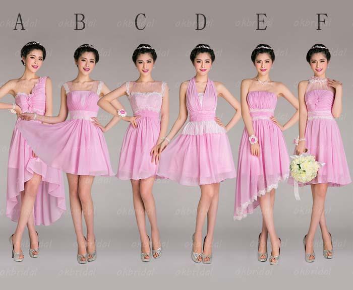 Junior bridesmaid dress, lace bridesmaid dresses, short bridesmaid ...