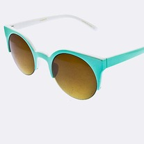 Mint Half Frame Sunglasses