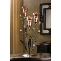 #D1115 LEOPARD LILY TRIPLE CANDLE TREE