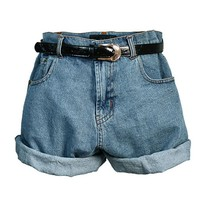 Boyfriend High Waist Denim Shorts