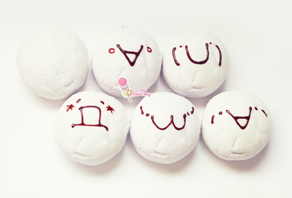 Jumbo Marshmallow Squishy Buns (kawaii Faces) ? Uber Tiny ? Online Store Powered by Storenvy