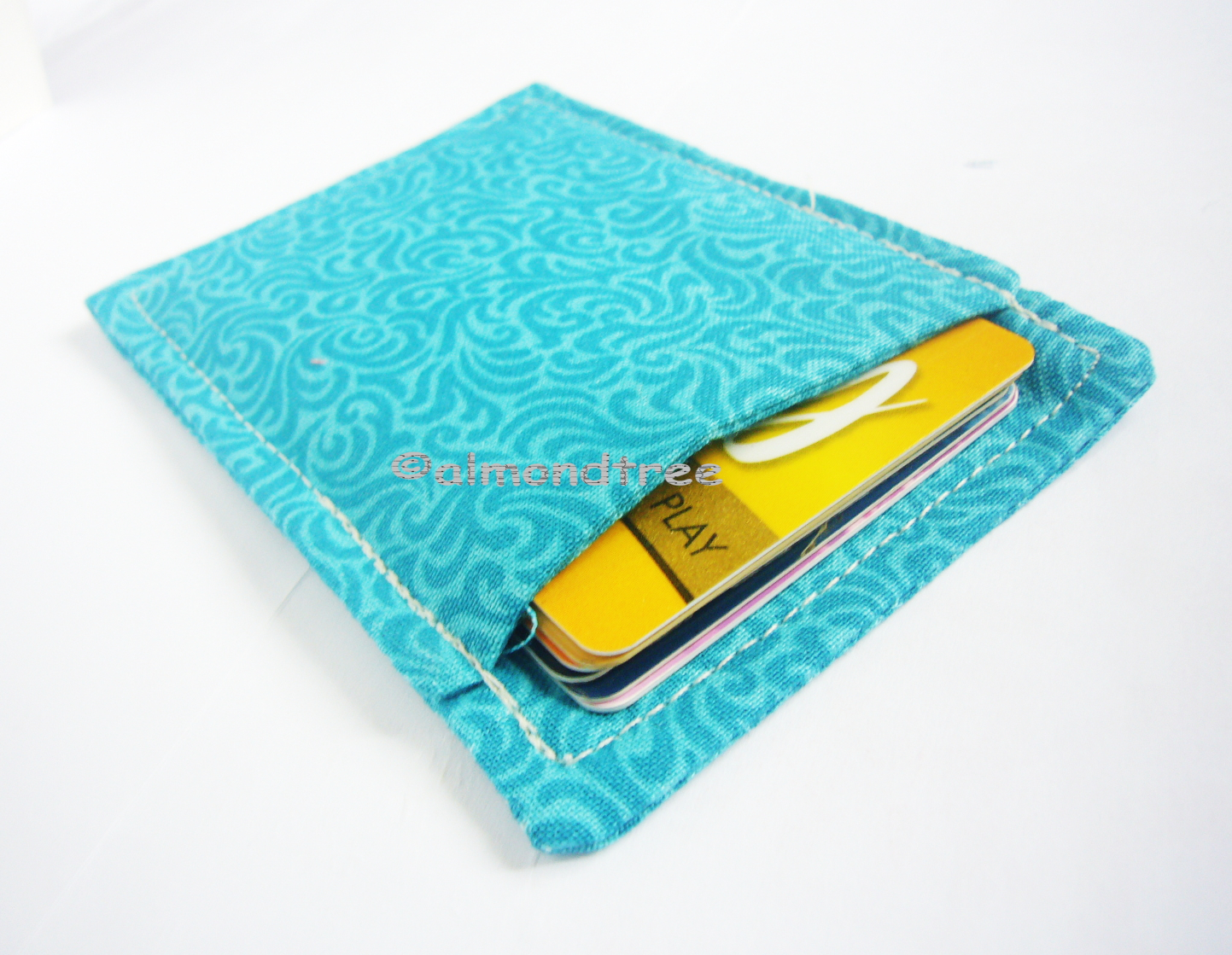 Green Portefeuille Slim Card Wallet Travel Organizing Fabric Card