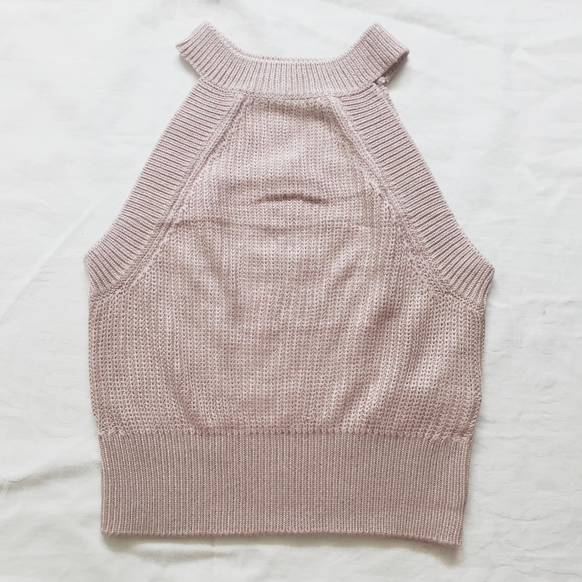 Sweater Knit Halter Crop Top (Blush Pink) · Megoosta Fashion · Free ...