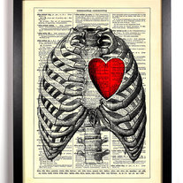 Image of My Heart Is All Yours, Vintage Dictionary Print, 8 x 10