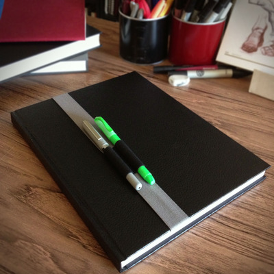 11-12 inch (28-31cm) sketchbook or journal pen holder
