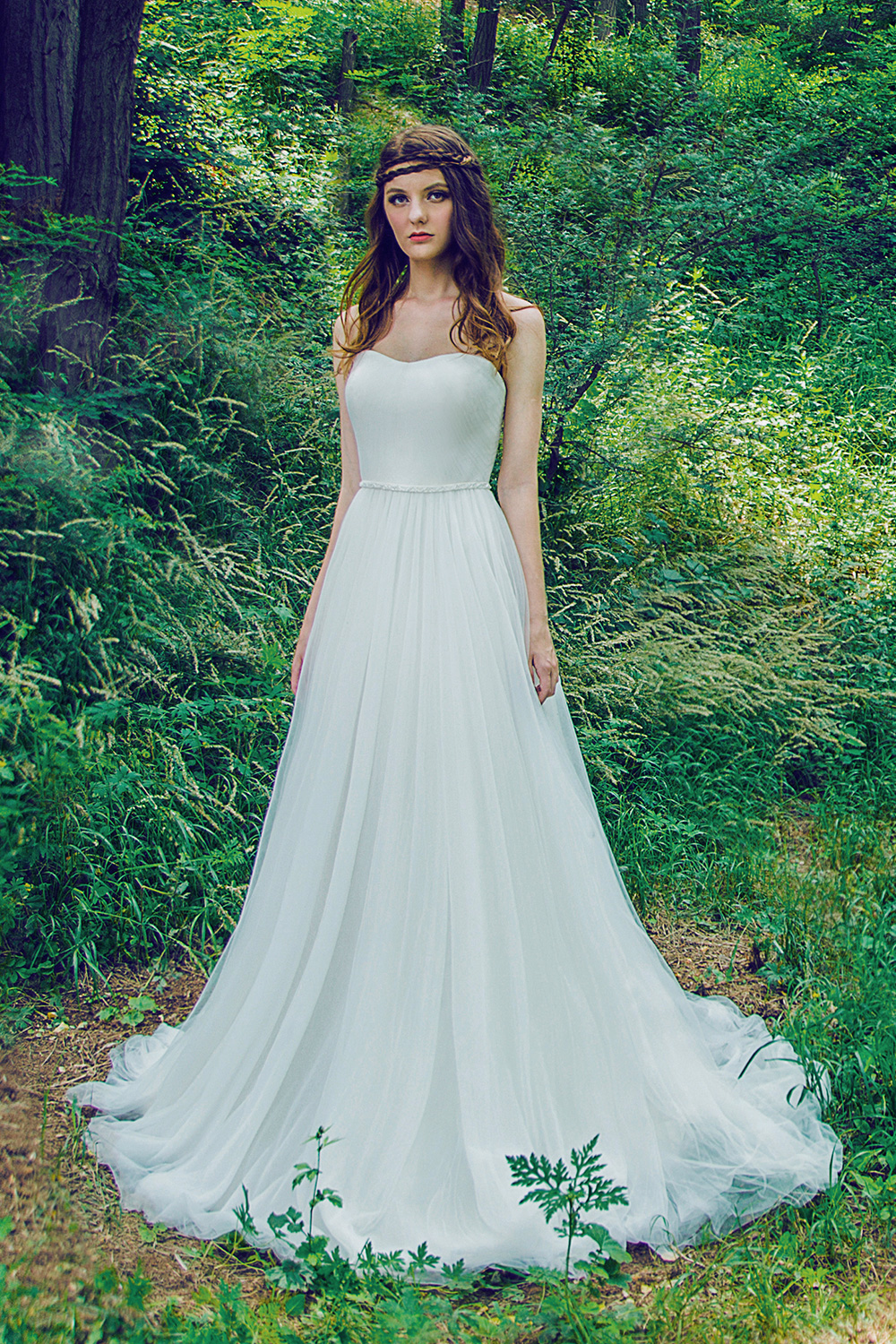 Plus Size Soft Tulle Gown with Beaded Waist · Wendy\'s Bridals ...