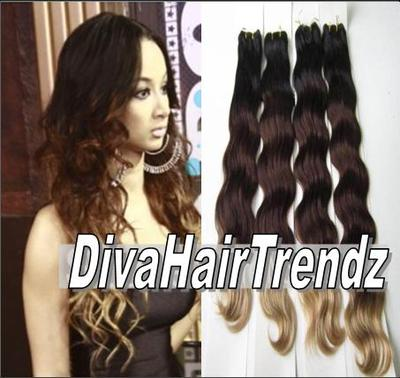 "12"" 14"" 16"" & 18""  indian remy 3 shade ombre [colors 1b/33/4] [4 bundles]"