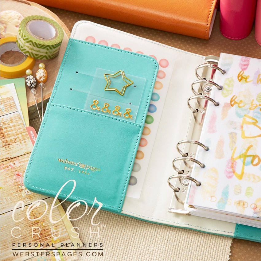 websters pages color crush planner light teal