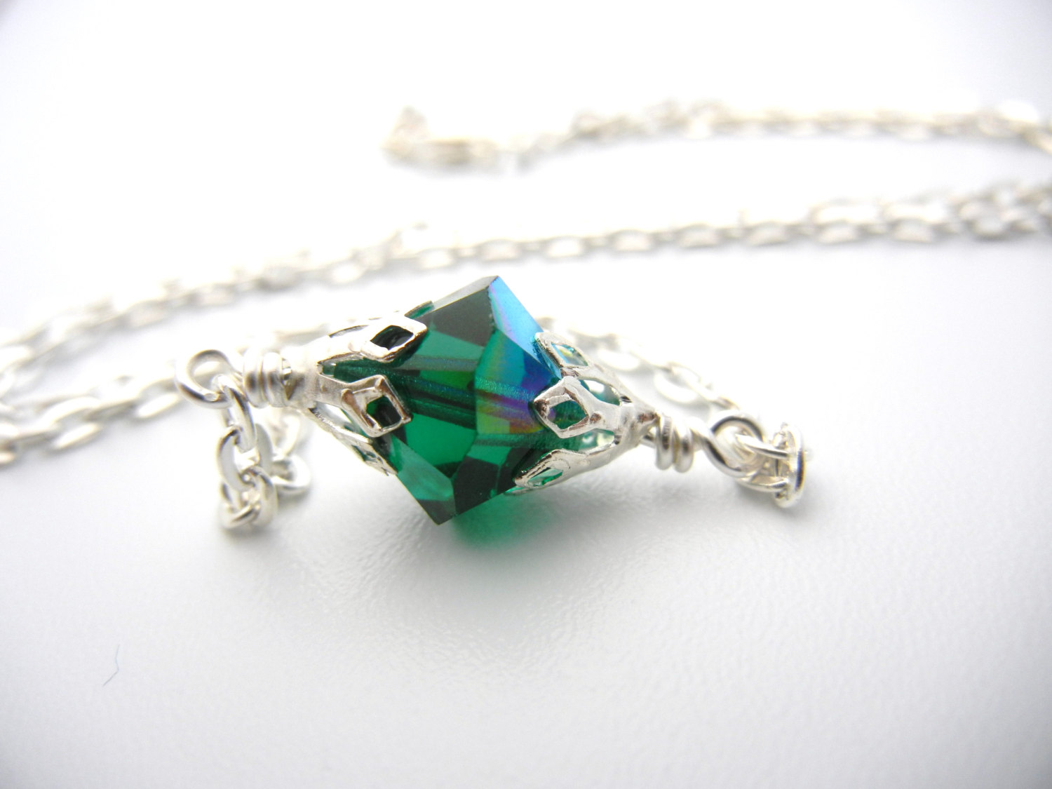 smallville lang inspired kryptonite necklace