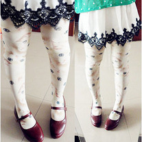 Kitty print tights