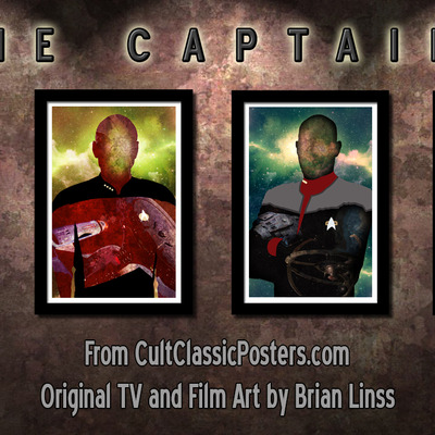 The captains - star trek - kirk - picard - sisko - janeway