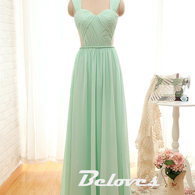 2016 Mint Green Draped Bodice Prom Dress With Open Back · Beloves ...