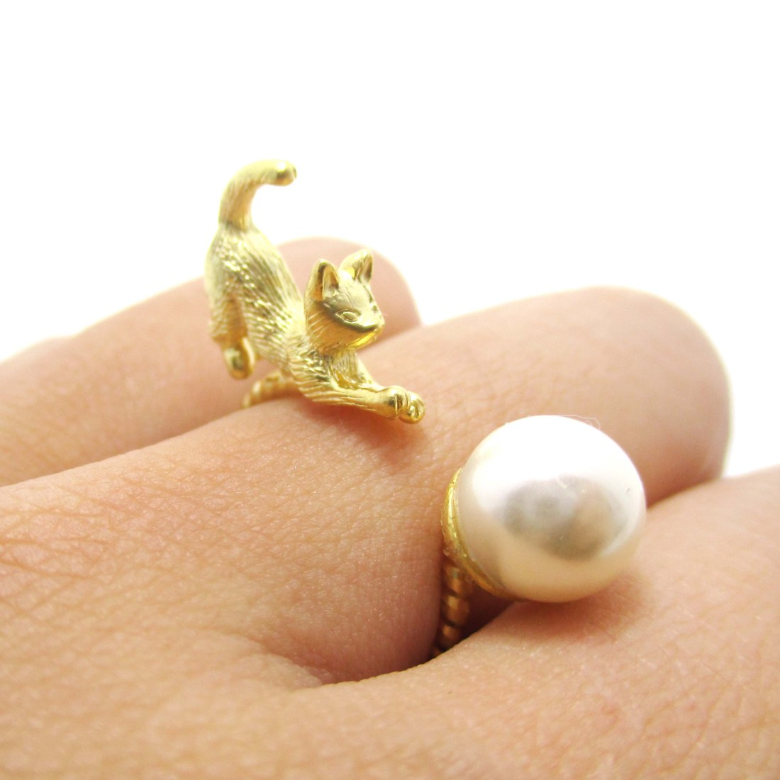 otter ring cat rings on art silver egyptian mau by deviantart