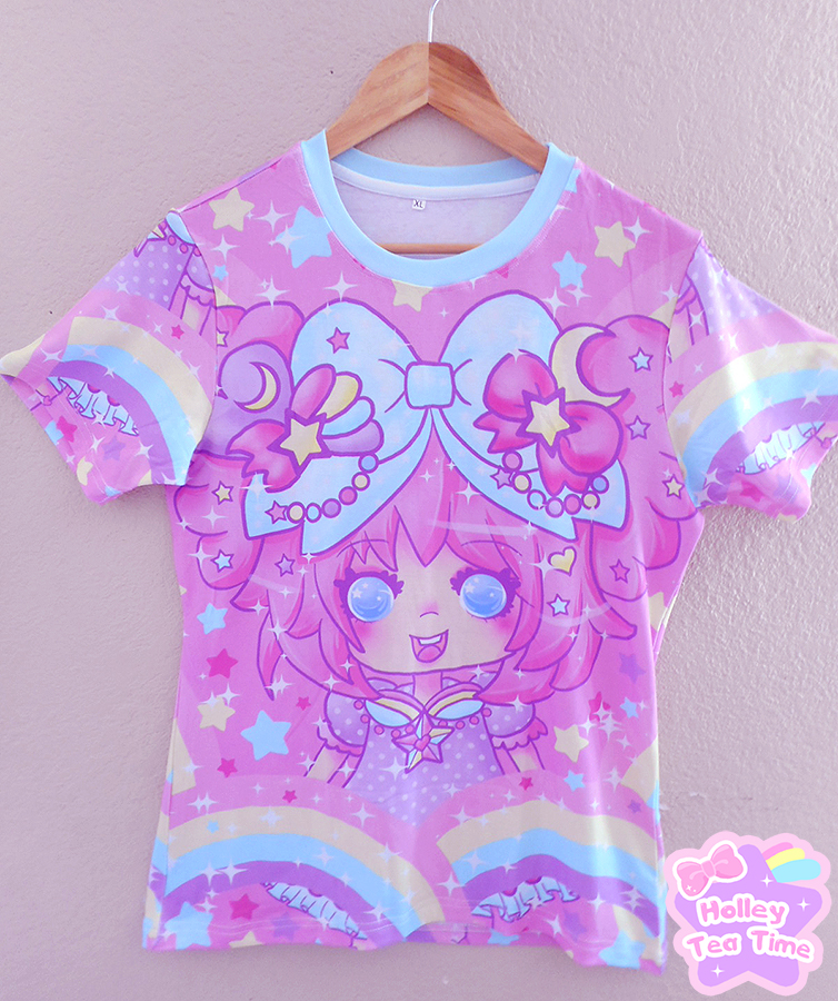 Bubbles Rainbow Land All Over Print T Shirt Made To
