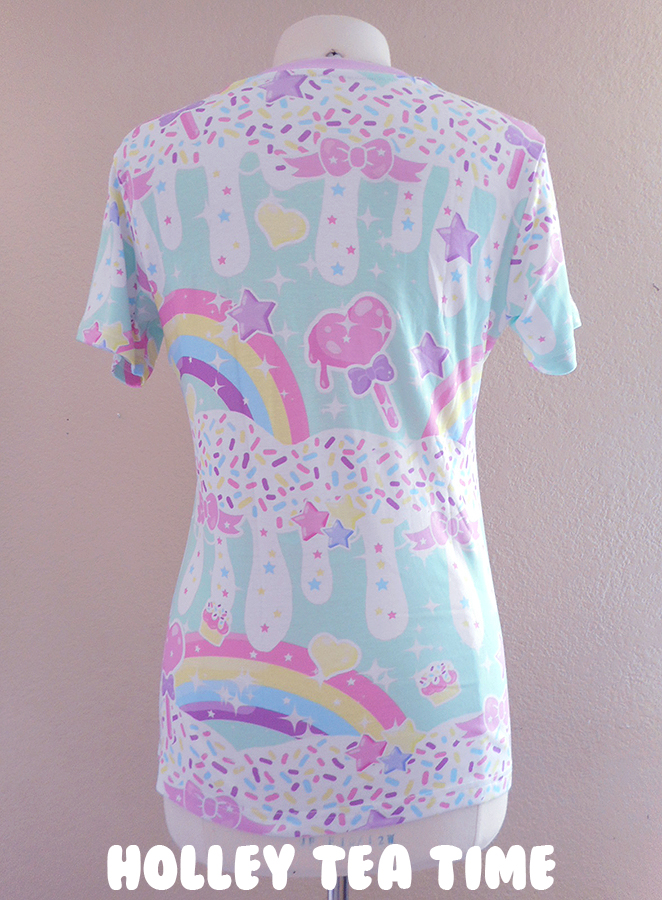 Rainbow Sweets Mint All Over Print T Shirt Made To Order