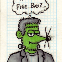 Sketch Card: Frankenweasel
