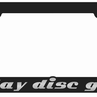 Wholesale - i-play-disc-golf | black and oem chrome license plate frames