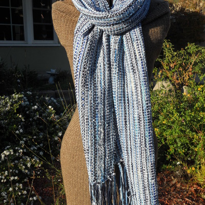 Ocean blue - light blue scarf (long)