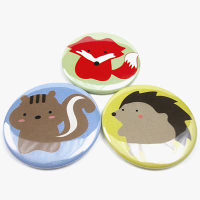 Woodland animal magnet trio - fox squirrel hedgehog