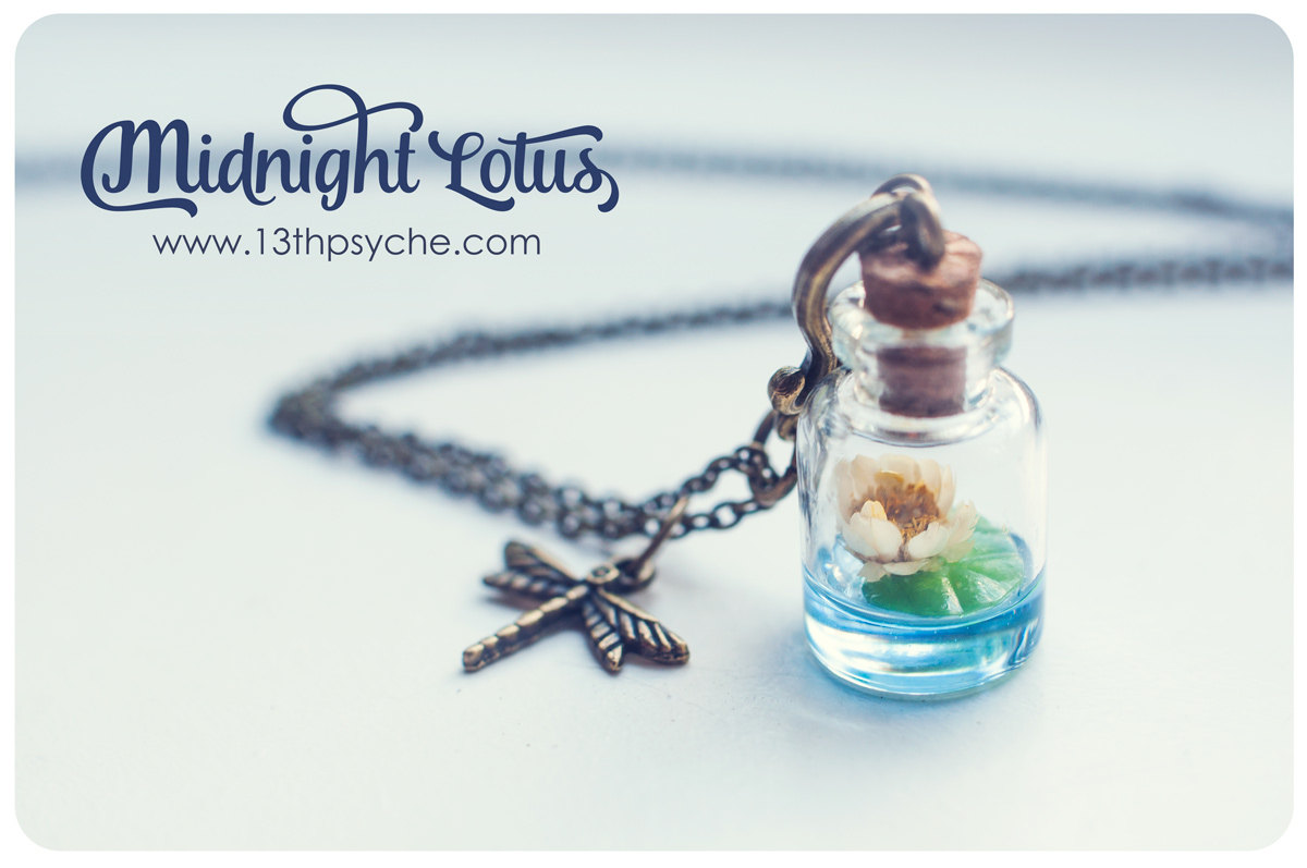 Lotus bottle necklace water lily necklace glass vial necklace lotus bottle necklace water lily necklace glass vial necklace glass bottle pendant aloadofball Image collections