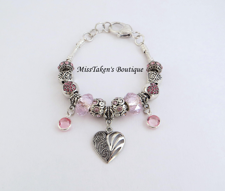 pink charm bracelet 183 misstakens boutique 183 online store