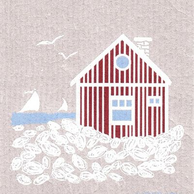 Scandinavian house, finnish dish towel (sponge cloth)