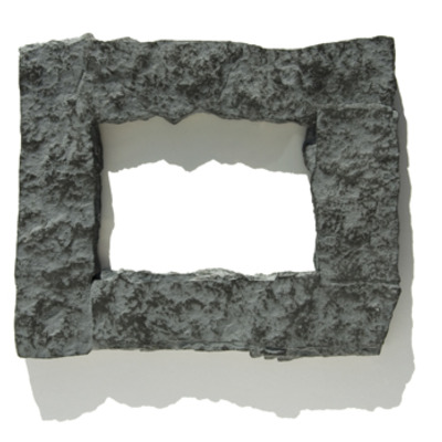 4x6 gray rock picture frame