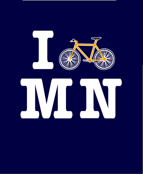 I Bike Minnesota T-shirt