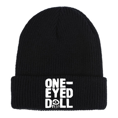Embroidered logo knit hat