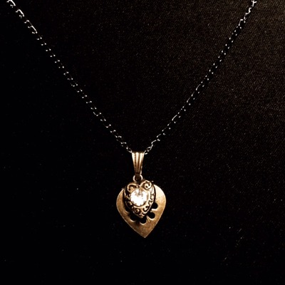 """planchette heart"" necklace - made by kimberly!"