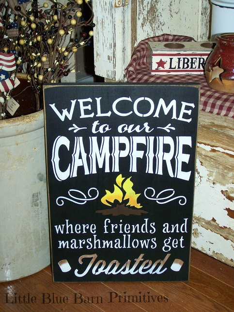 Welcome To Our Campfire Where Friends And Marshmallows Get